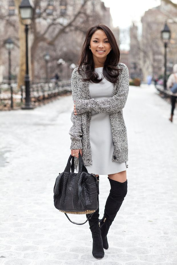 Grey Matter (The View From 5 Ft. 2)   High boots, Booties outfit ...