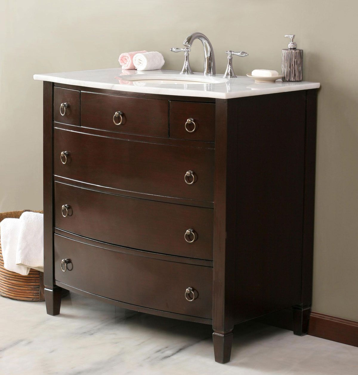 Small bathroom vanity the complement of small bathroom - Small bathroom vanity with drawers ...