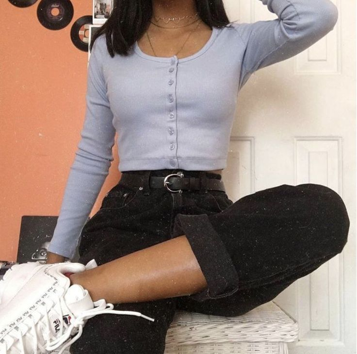 Button-Front Crop Top #90sstyle