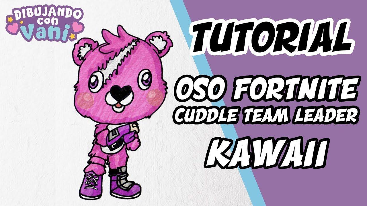 Como Dibujar Oso Fortnite Kawaii Para Niños Dibujos Anime Faciles