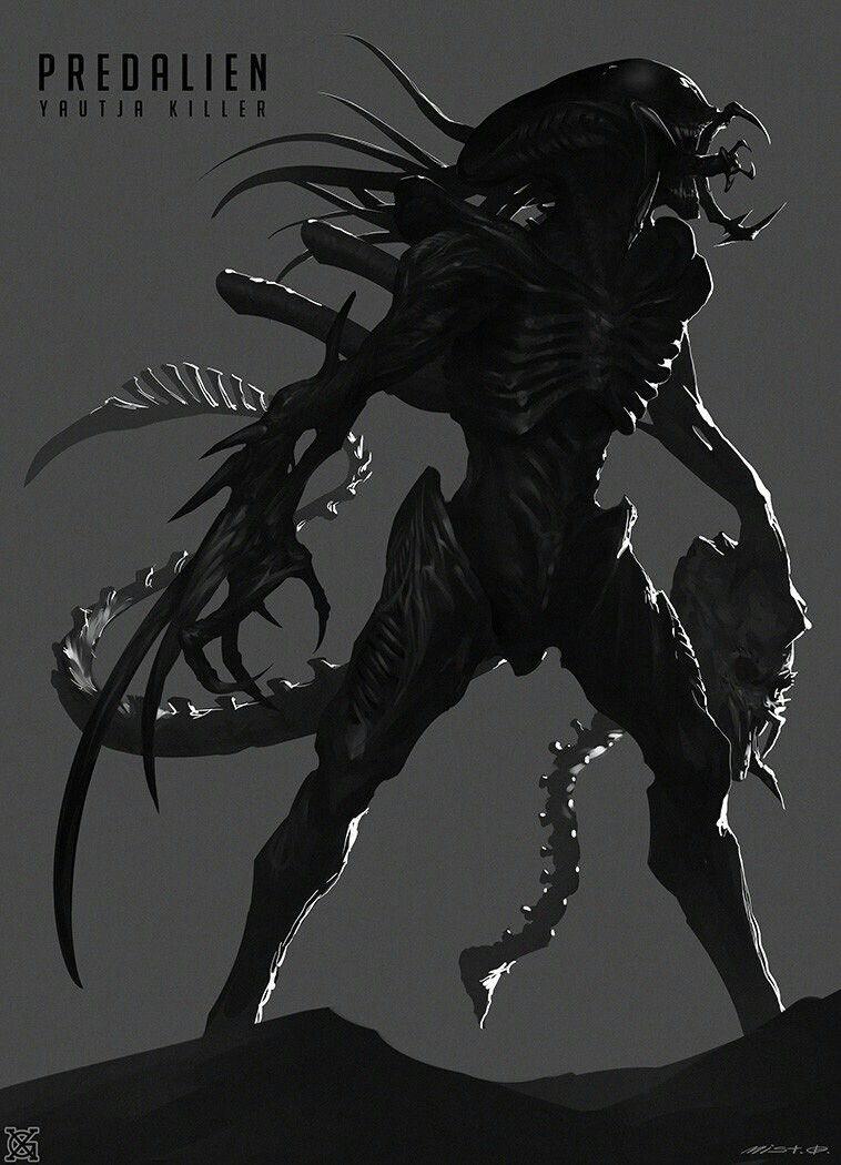 predalien by mist xg avp tattoo ideas predator alien alien vs