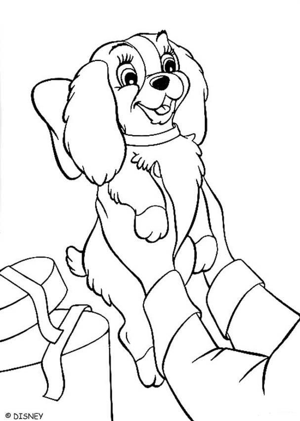 Lady and the Tramp Puppy coloring pages, Disney coloring