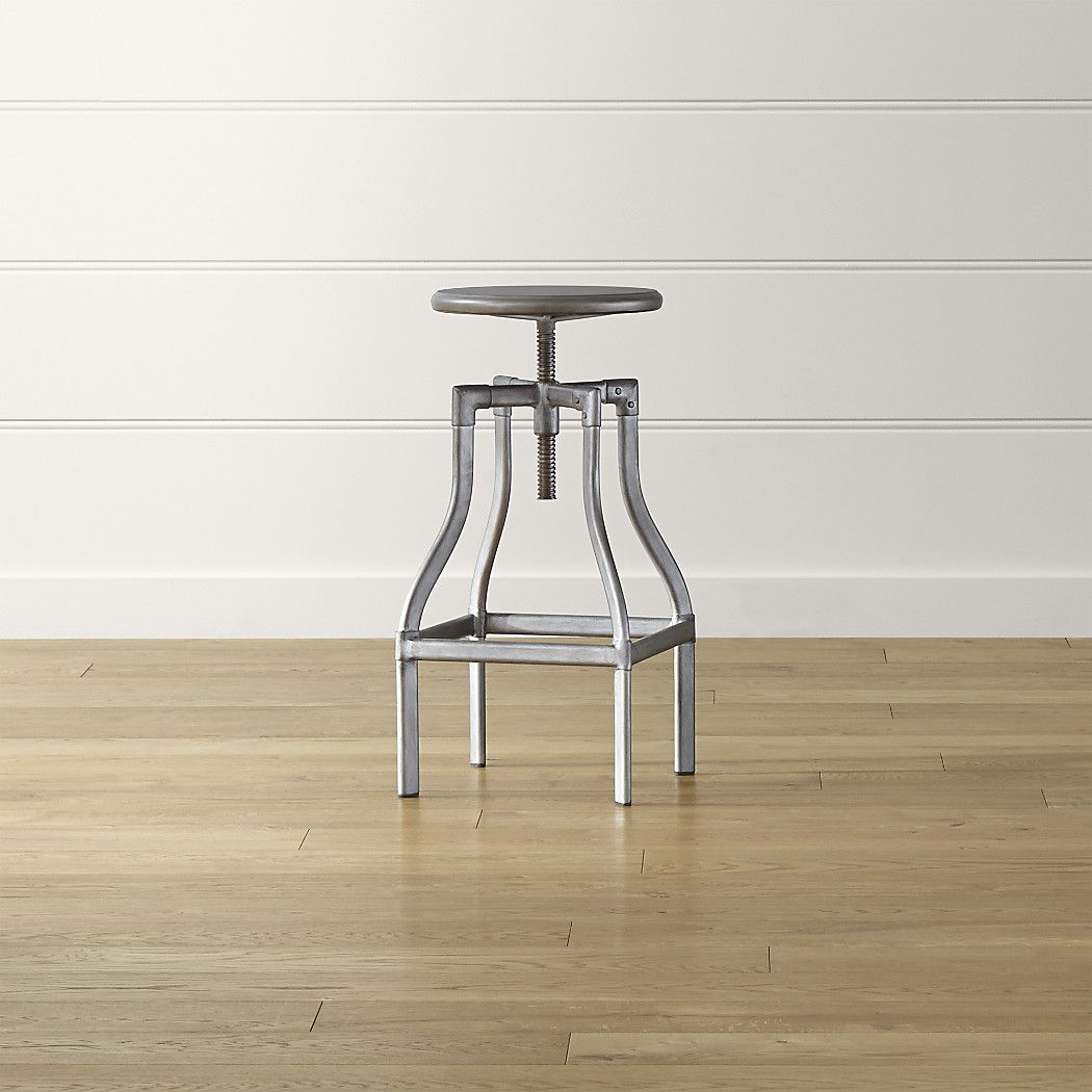 Tremendous Turner Gunmetal Adjustable Backless Bar Stool Reviews Ncnpc Chair Design For Home Ncnpcorg