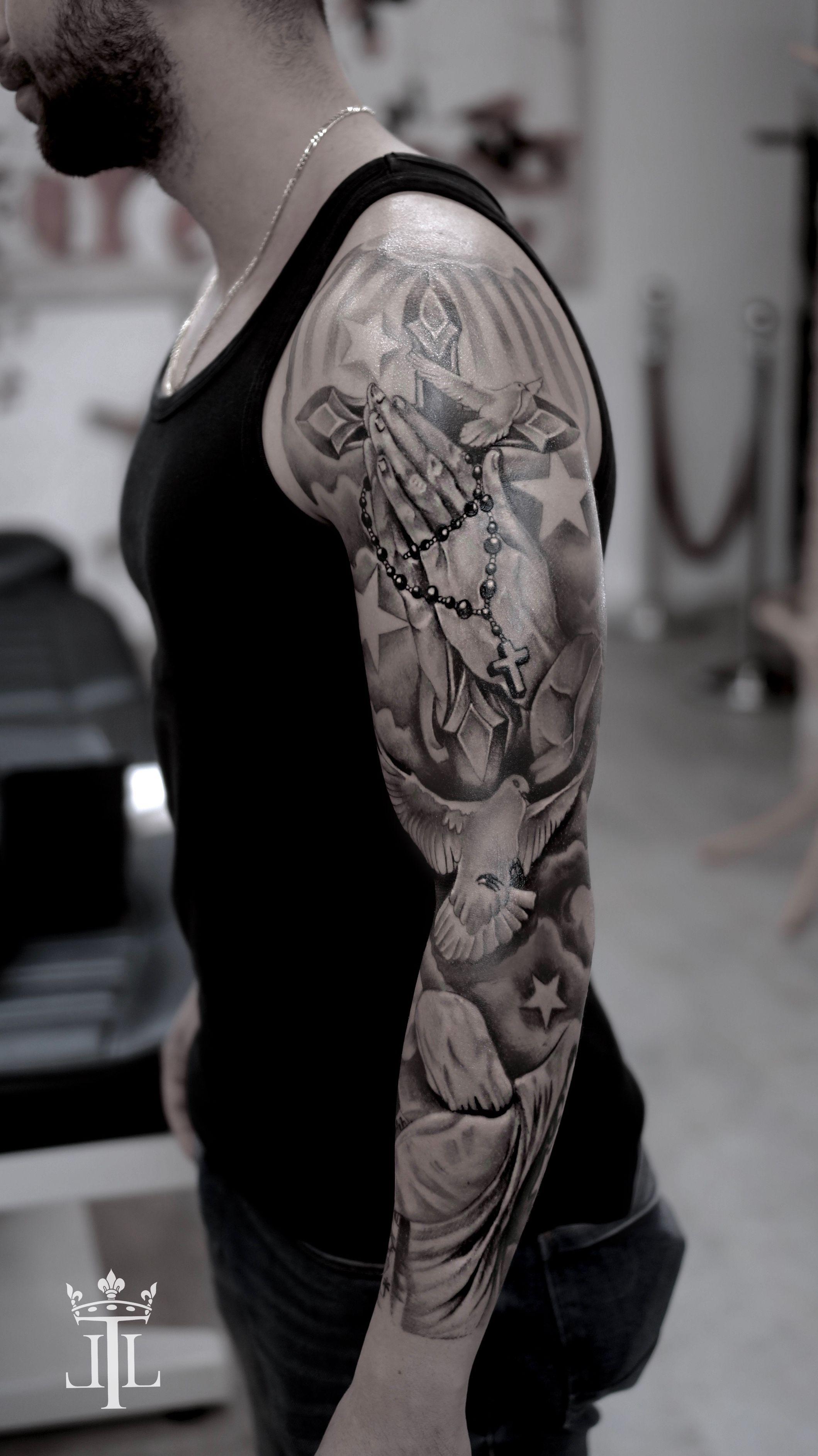 Pin On Freestyle Sleeve Tattoo