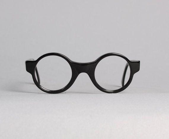 d5a677da0f 80s Alain Mikli GLASSES Frames   Round Black Designer Eyeglasses ...