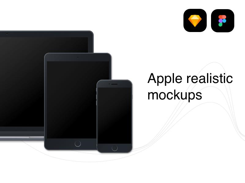 Download Apple Devices Realistic Mockups For Figma Template Freebie Mockup Figma