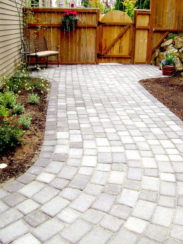 diy paver path really like this multi colored walkway description from pinterestcom - Paver Walkway Design Ideas