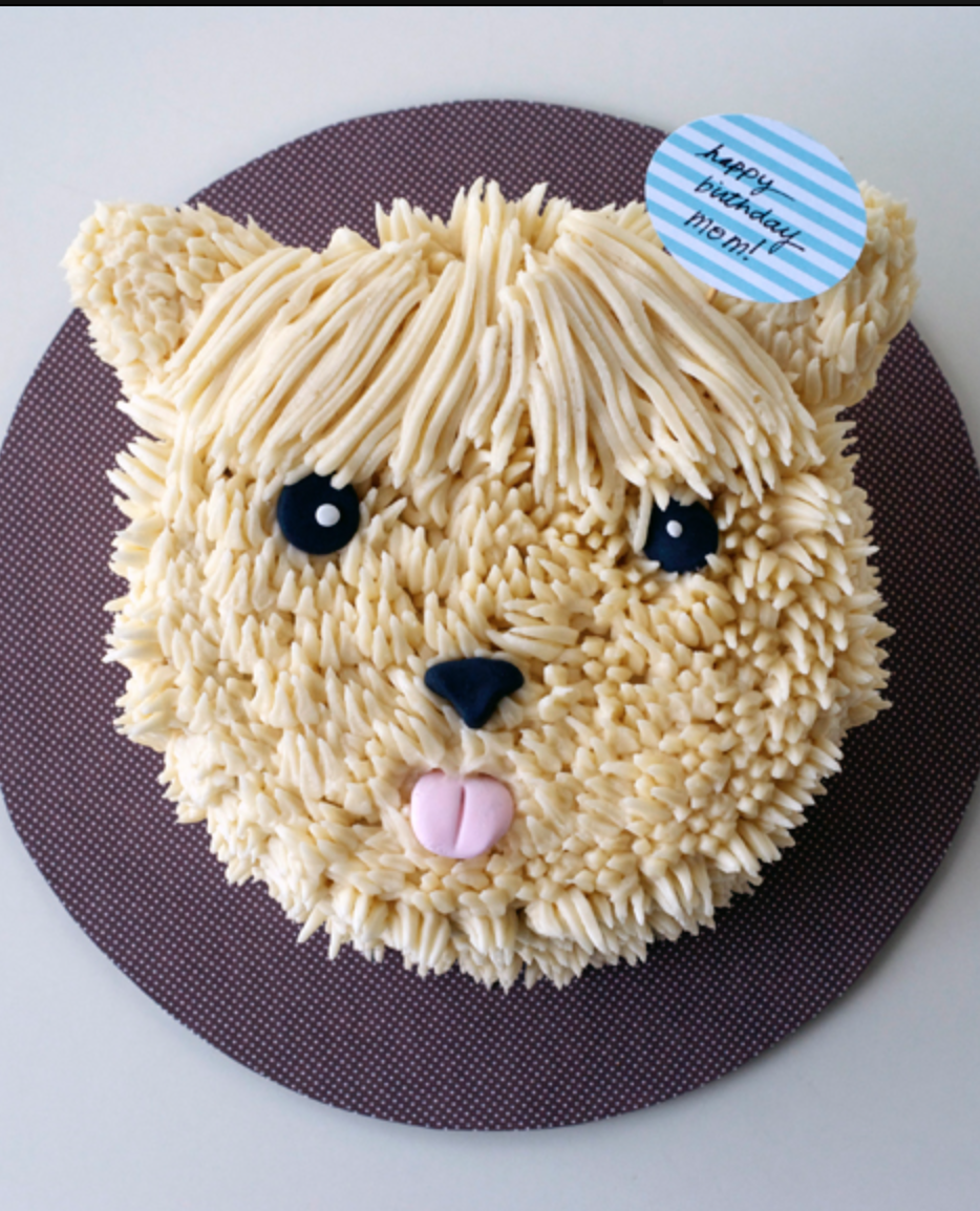 Pup cake by lyndsay at coco cake land hairy frosted vanilla