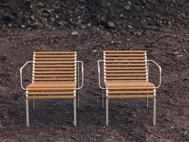 Richtige Ausstattung Für Den Garten Holz Metall Stuhl Design Arnold Merckx