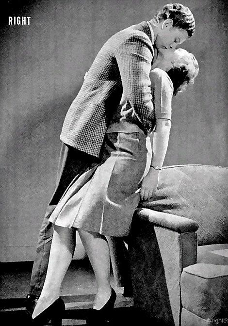 How To Kiss 1940s Style Stand Close Together Hold Each Other