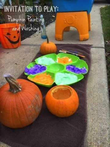 Views From A Step Stool Fall Invitation To Play Pumpkin