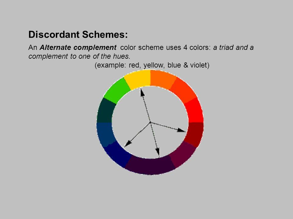 Alternate Complementary Discordant Color Scheme