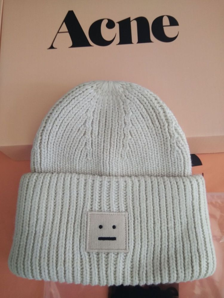 HOT acne studio beige white smile hat winter men and women warm hat wool hat  cap  fashion  clothing  shoes  accessories  unisexclothingshoesaccs ... 314d93fbc48