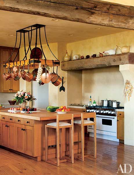 Philanthropist Sandy Weill S House In California Tuscan Kitchen