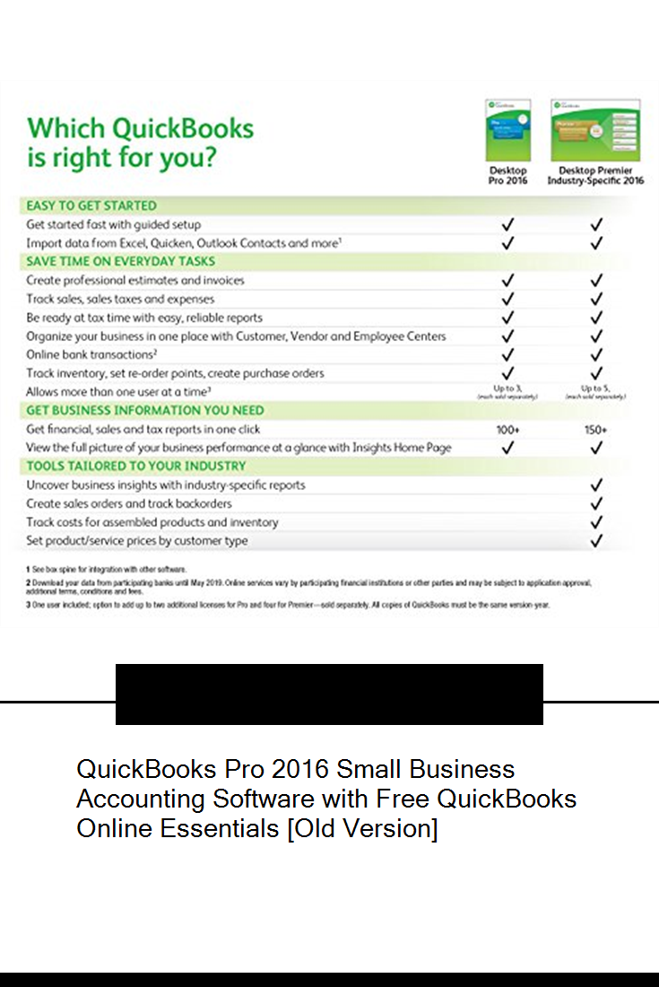 Quickbooks Pro 2016 Small Business Accounting Software With Free Quickbooks On Accounting Software Small Business Accounting Software Small Business Accounting