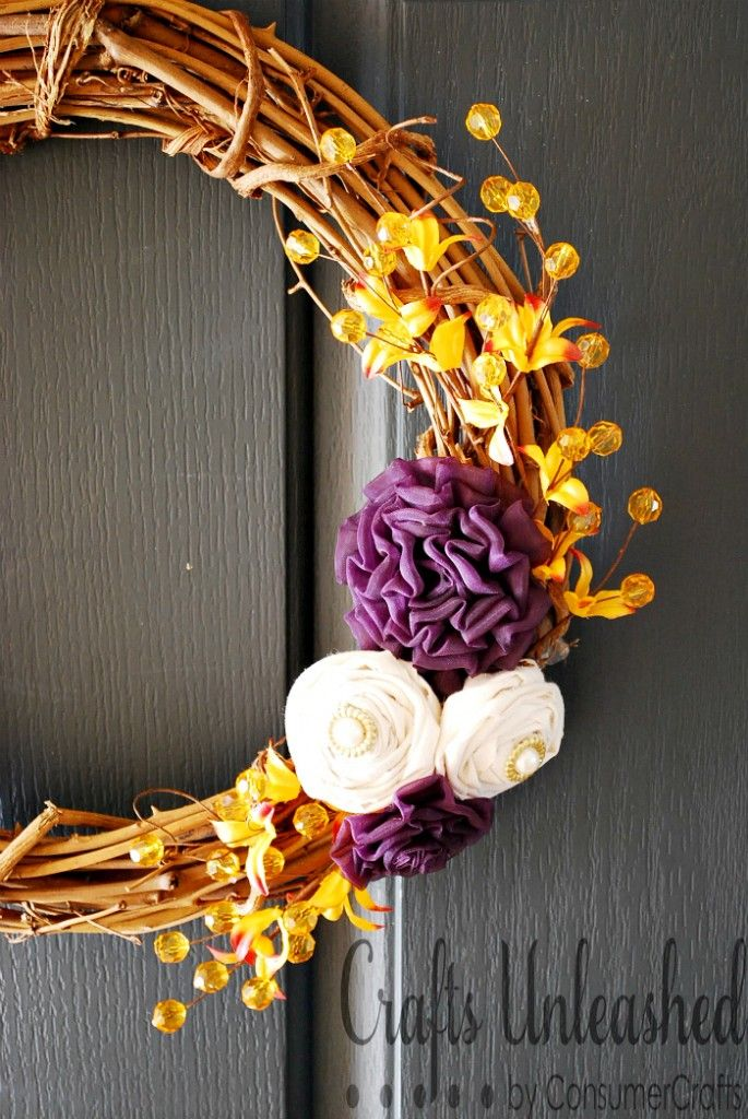DIY Rosette Wreath #fall #autumn