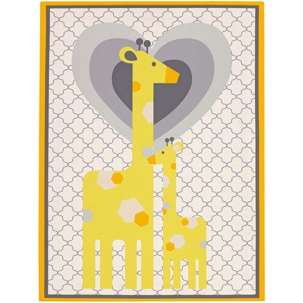 Happy Chic by Jonathan Adler Safari Giraffe Canvas Wall Art, Yellow ...