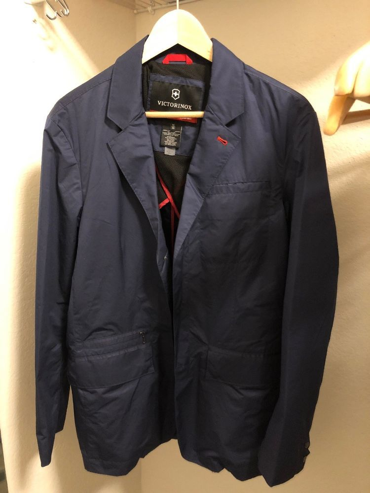 974a123bee8c Mens Victorinox Swiss Army Jacket Travel Blazer 50 40 Navy Blue New  450   fashion  clothing  shoes  accessories  mensclothing  coatsjackets (ebay  link)