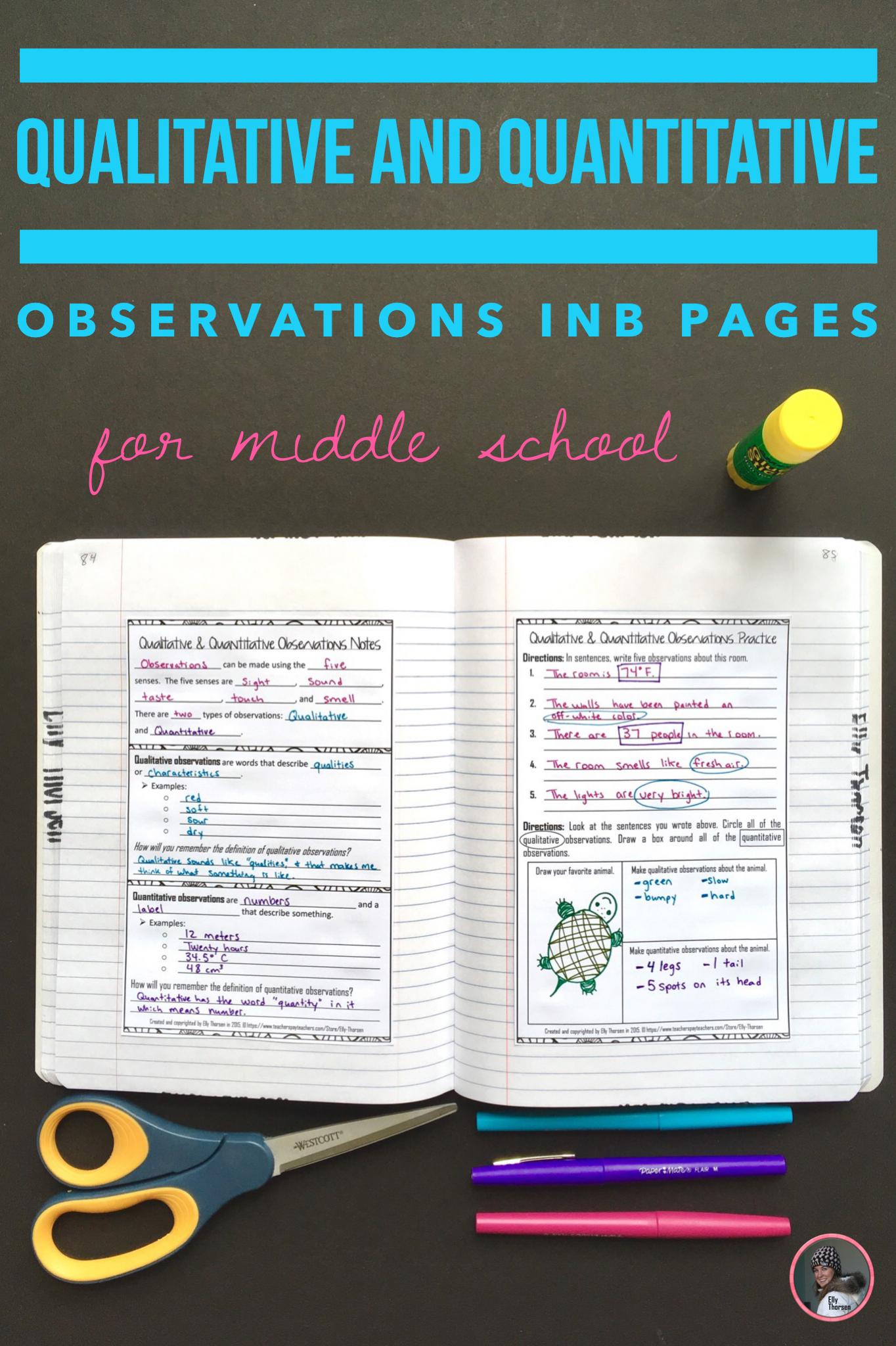 Qualitative And Quantitative Observations Interactive