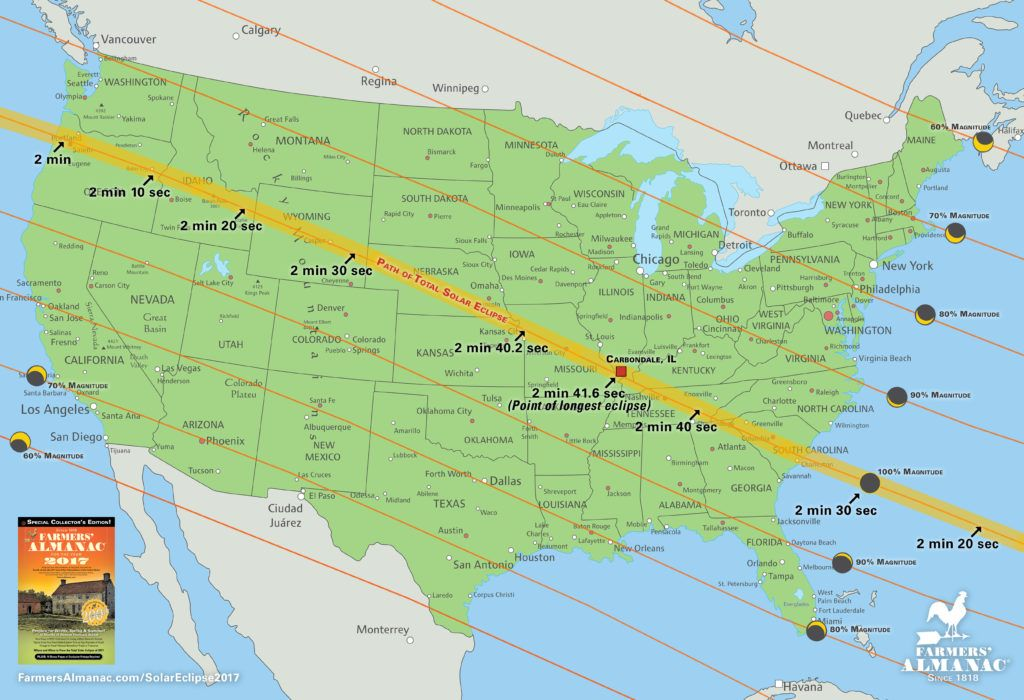 Solar Eclipse Times, Cities, and Map | Pinterest | August 21