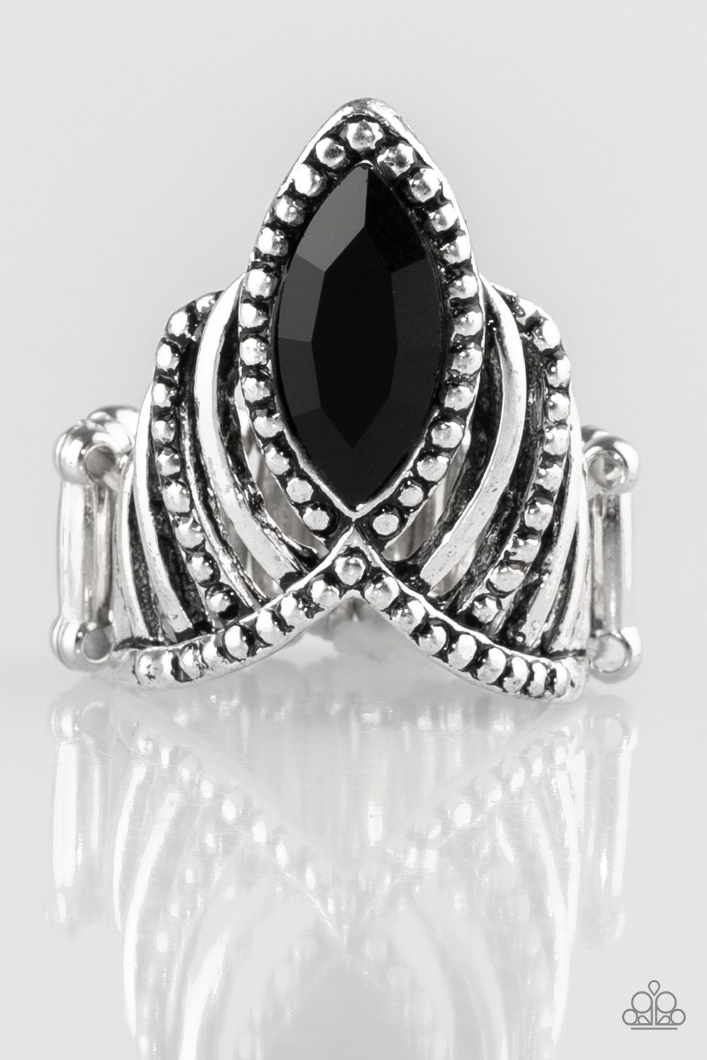 Heres Your Crown Black Regular Stretch Ring Only 5 Lead And Nickel Free Www Razzledazzlevip Com Black Rings Paparazzi Accessories Jewelry Jewelry