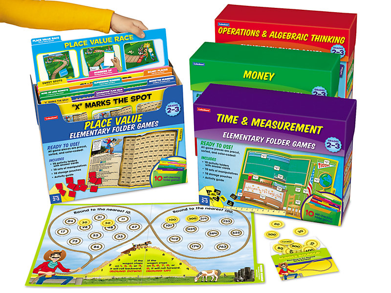 Math Folder Game Libraries - Gr. 2-3 - Complete Set at Lakeshore Learning