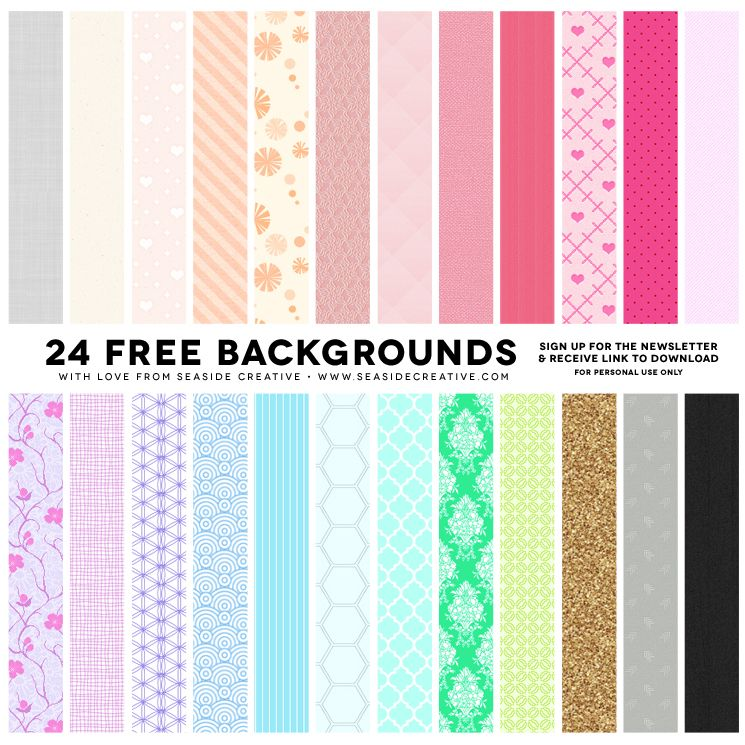 24 FREE Background Patterns! | Feminine Website Design | Pinterest ...