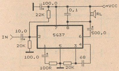ic 5g37 power amplifier audio schematic pinterest circuit diagram rh pinterest com