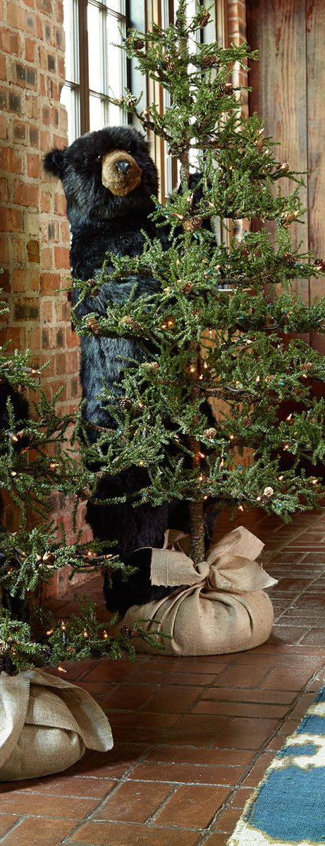 Rustic christmas tree christmas pinterest navidad for Decoracion navidena rustica