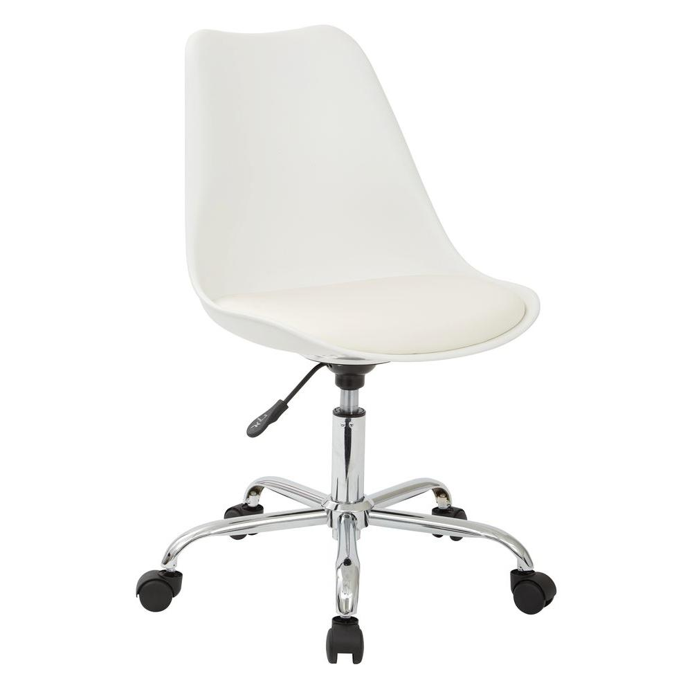 Osp Home Furnishings Emerson White Office Chair White Office Chair White Desk Chair Modern Desk Chair