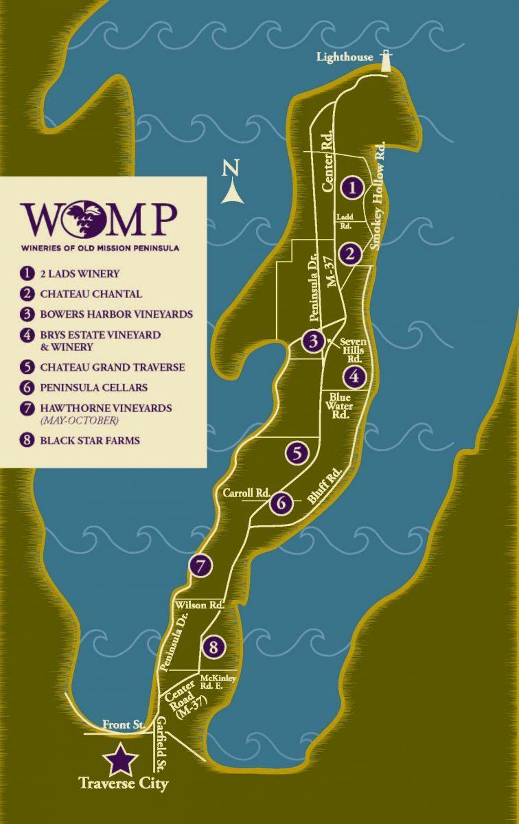 Wine Trail Map Wine Trail Michigan Road Trip Wine Travel