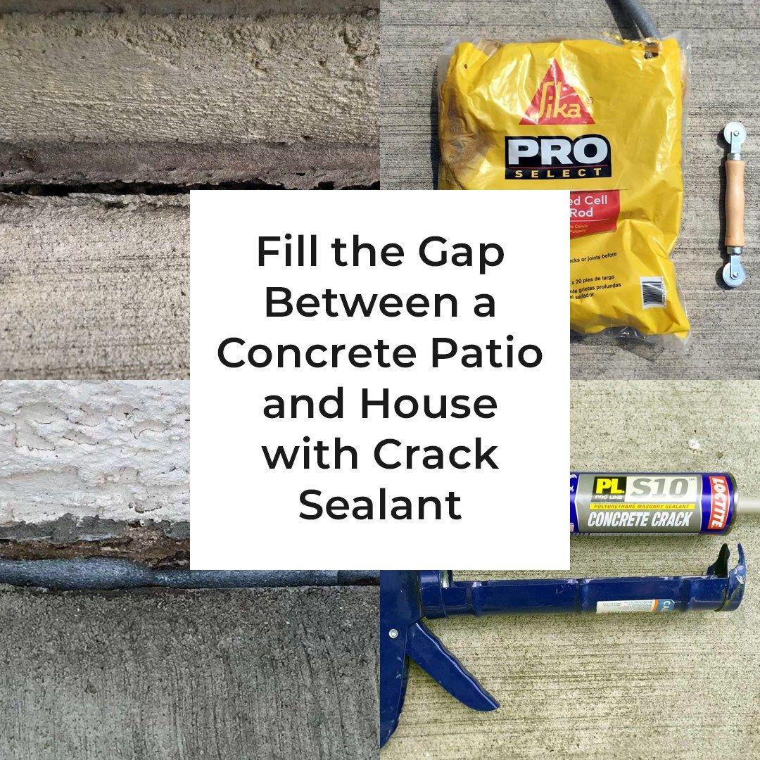 Fill The Gap Between A Concrete Patio And House Real Gospodar Concrete Patio House Foundation Patio Repair