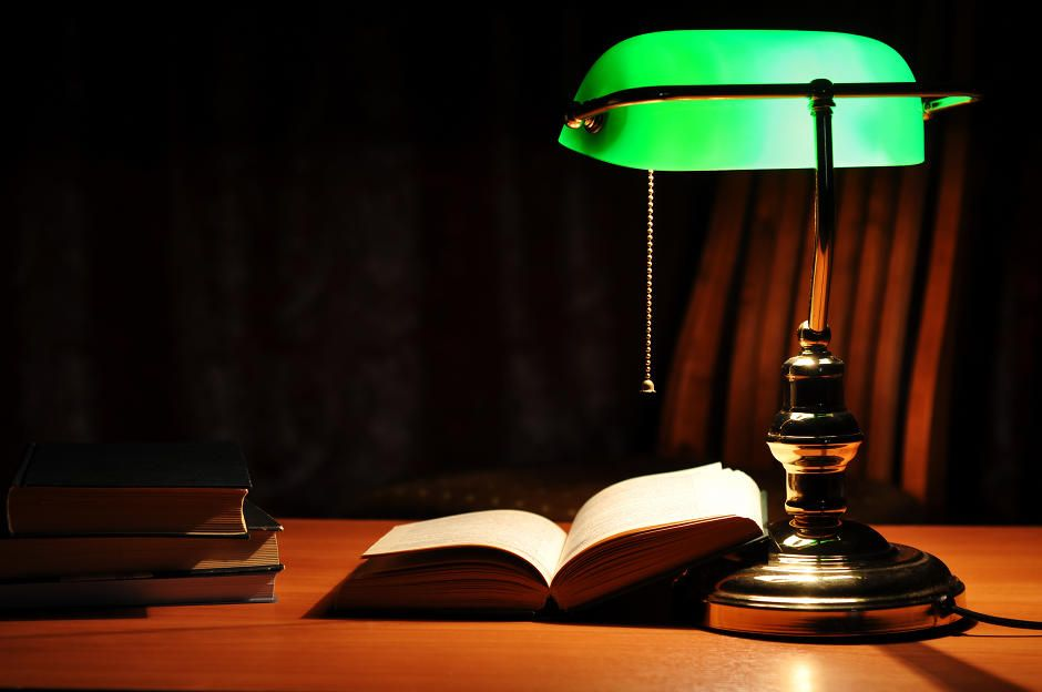 Gentil Green Office, Green Desk, Green Lamp, Office Lamp, Office Decor, Bankers