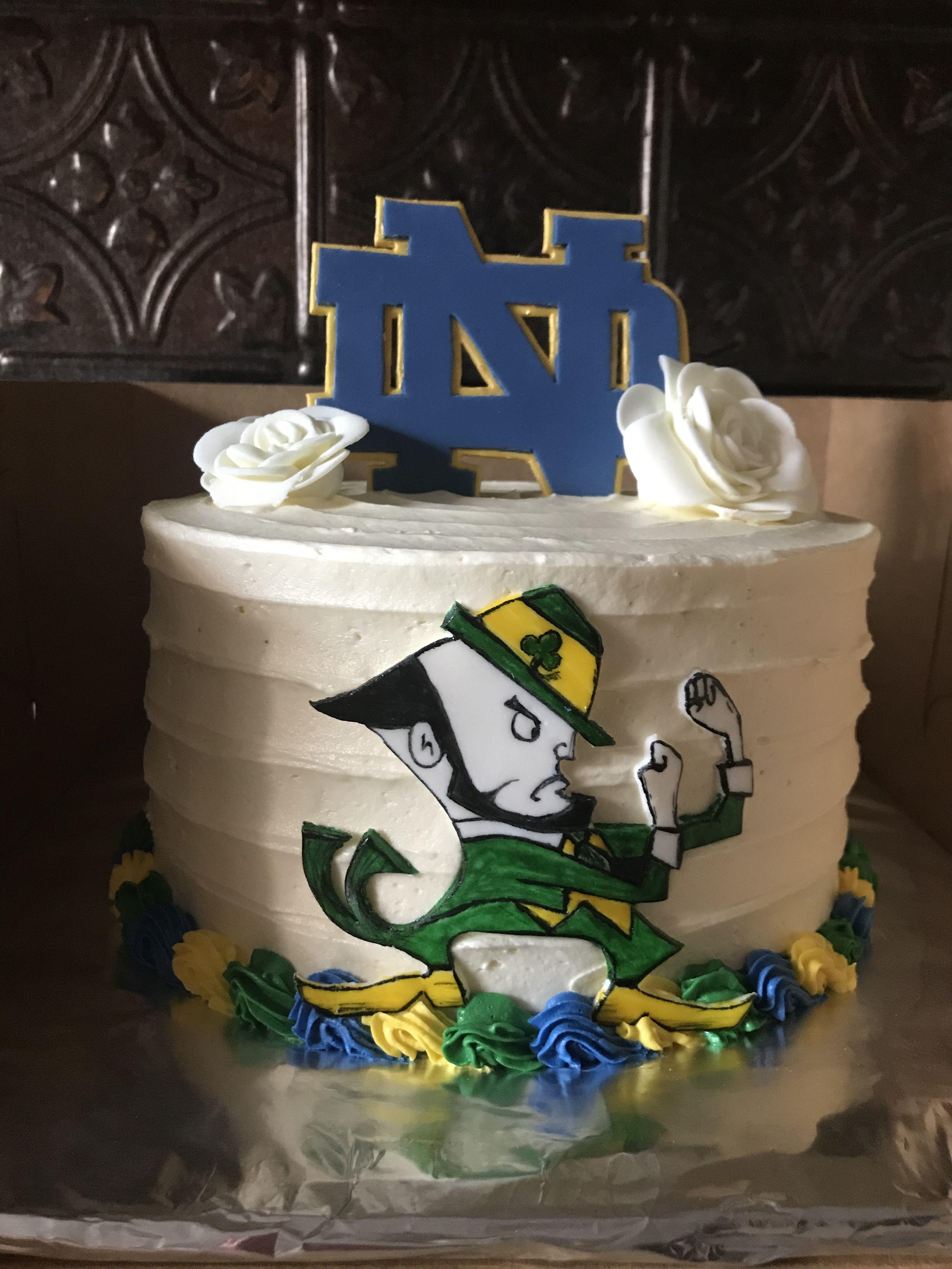Fighting irish cake notre dame cake in 2020 irish cake