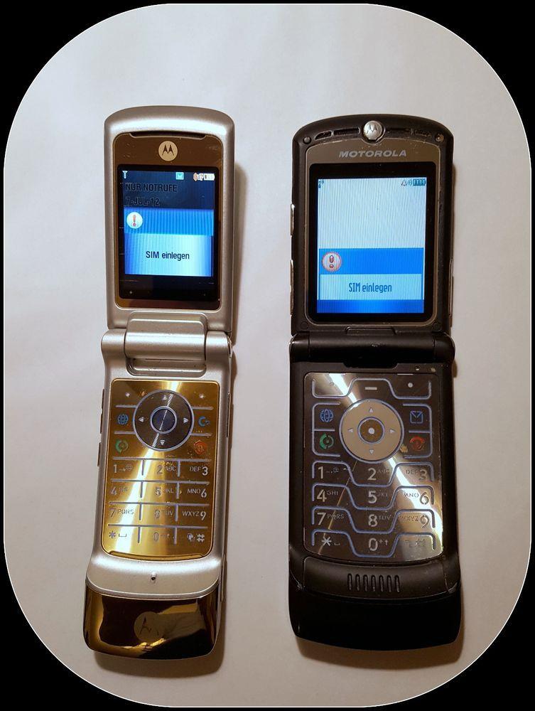 Zwei Motorola Handys Razr V3i Ohne Simlock Handy Motorola Handy Handy Handys
