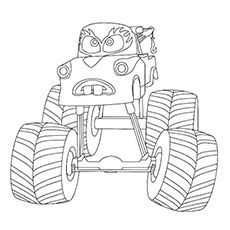10 wonderful monster truck coloring pages for toddlers - Monster Truck Coloring Page