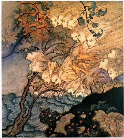Arthur Rackham, from The Tempest