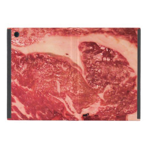 Raw Meat Ribeye Steak Texture Cover For iPad Mini