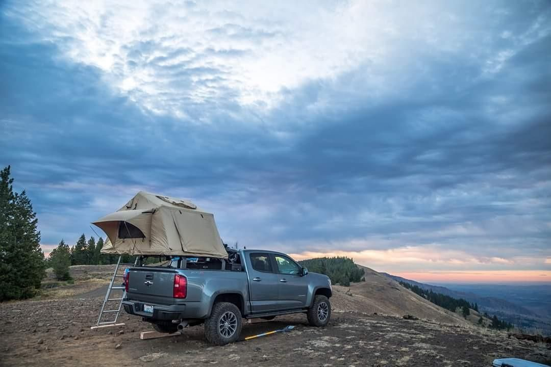 Chevy Truck Camping Tent in 2020 Truck camping, Chevy