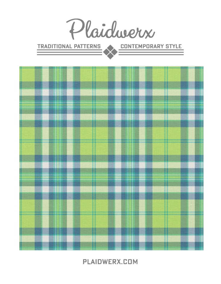 Lime Green Turquoise And Blue Fashion Plaid Fabric Plaid Fabric Lime Green Plaid Trend