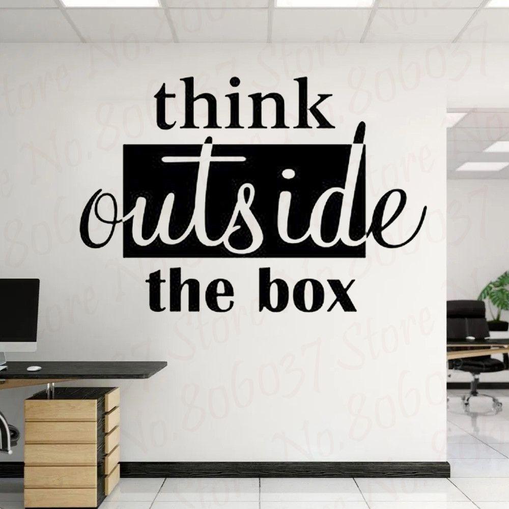 #think #outside #teamwork #wall #sticker #vinyl #motivational #class #door #decor #art #cute #work #office #team #school #ocean #wl846 #home