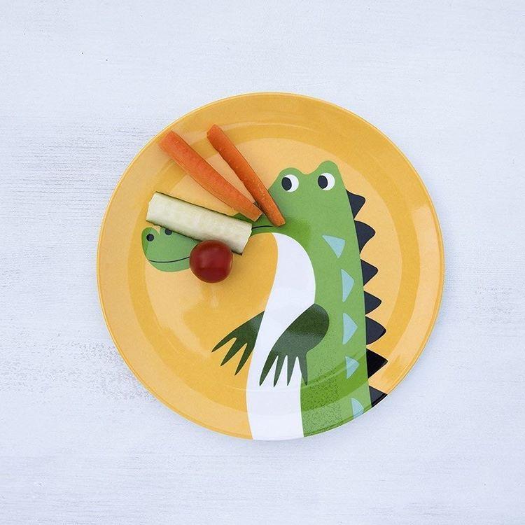 #Crocodile #Plate #Melamine from www.kidsdinge.com http://instagram.com/kidsdinge https://www.facebook.com/kidsdinge/ #kidsdinge #onlinestore #Kidsroom #babyroom #Toys #Speelgoed #worldwideshipping