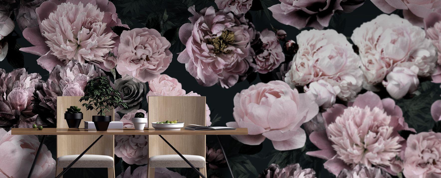 Fototapeta W Kwiaty Tapeta W Peonie Wallpaper Mural Design