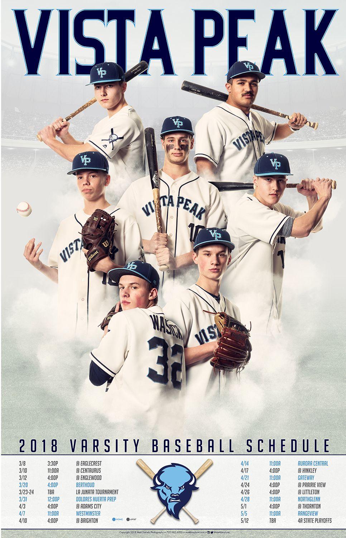 Photography And Poster Design For The 2018 Vista Peak Baseball Team Copyright 2018 Matt Daniels Photography Sport Poster Sports Team Photography