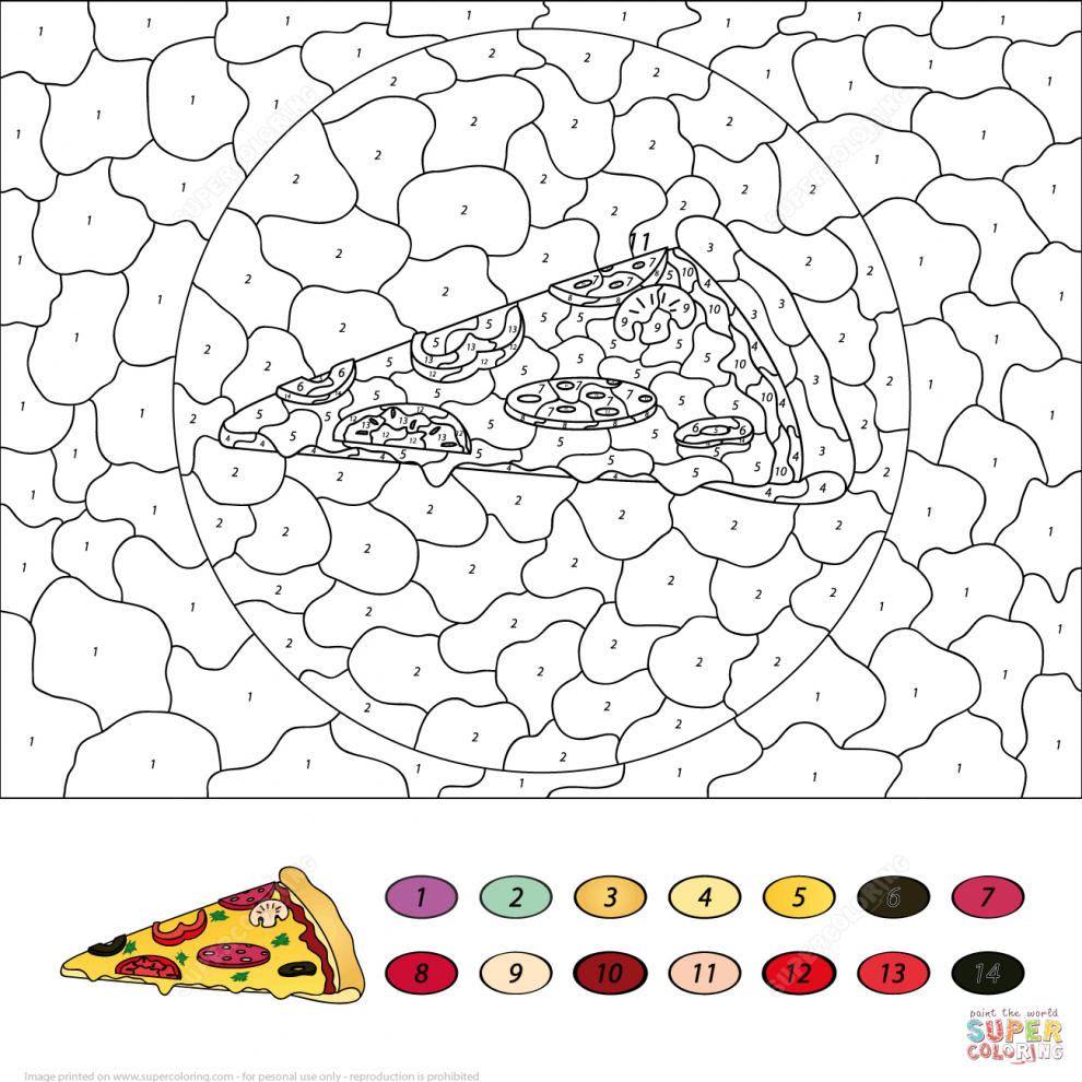 Dress. Donuts Color Number Free Printable Coloring Pages Within ...