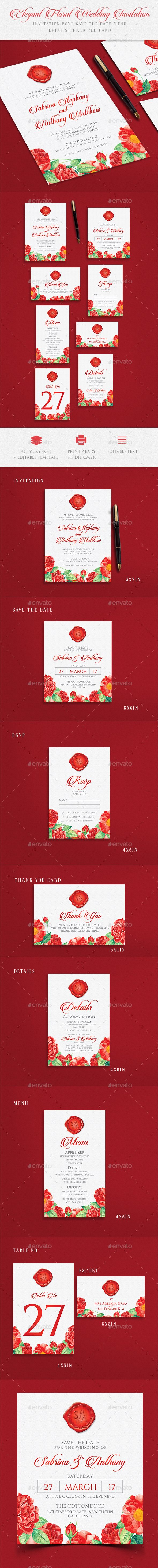 Wedding Invitation — Photoshop PSD #templates #fall • Download ...