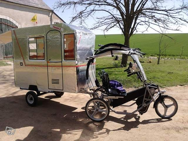 1200 Euros For The Whole With The Caravan Bike Camping Camper