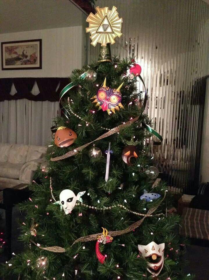 Zelda Christmas tree   Zelda   Pinterest   Christmas, Christmas tree ...