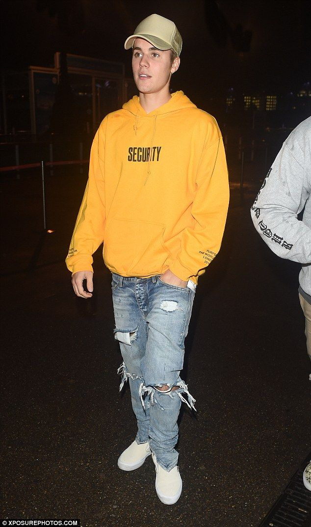 what to wear with yellow hoodie