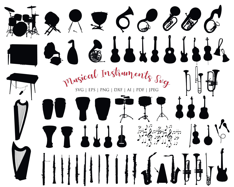 Music Instruments Svg Bundle Guitar Svg Music Drum Svg Etsy In 2020 Clip Art Cricut Svg Svg
